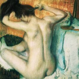 Woman Combing Her Hair - Degas